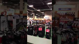 Megan Khang LPGA Visiting Golfers Warehouse and working on her take way indoors