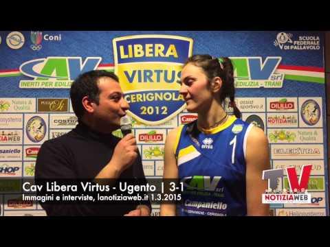 Immagini e interviste Cav Libera Virtus vs Volley Ugento, lanotiziaweb.it, 1.3.2015