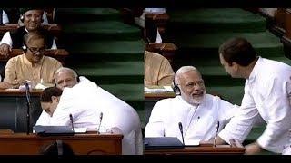 Rahul Gandhi Hugs PM Modi | Says Thankful to Him for Teaching the Meaning of Hindustan & Congress