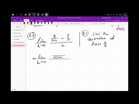 Nik's Live Calculus Stream (Calculus1 3.1 Intro to Derivatives)