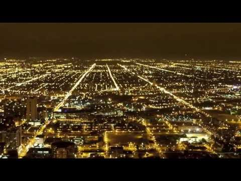 Chicago Night, Traffic & City Lights | Time Lapse
