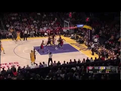 Kobe Scores 41 in Lakers Overtime Win Over Toronto Raptors NBA March 2013