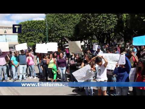 Manifestacion de estudiantes en Irapuato