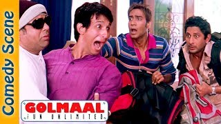 Best Of Golmaal Fun Unlimited Comedy Scenes - Ajay Devgn - Arshad Warsi - #IndianComedy
