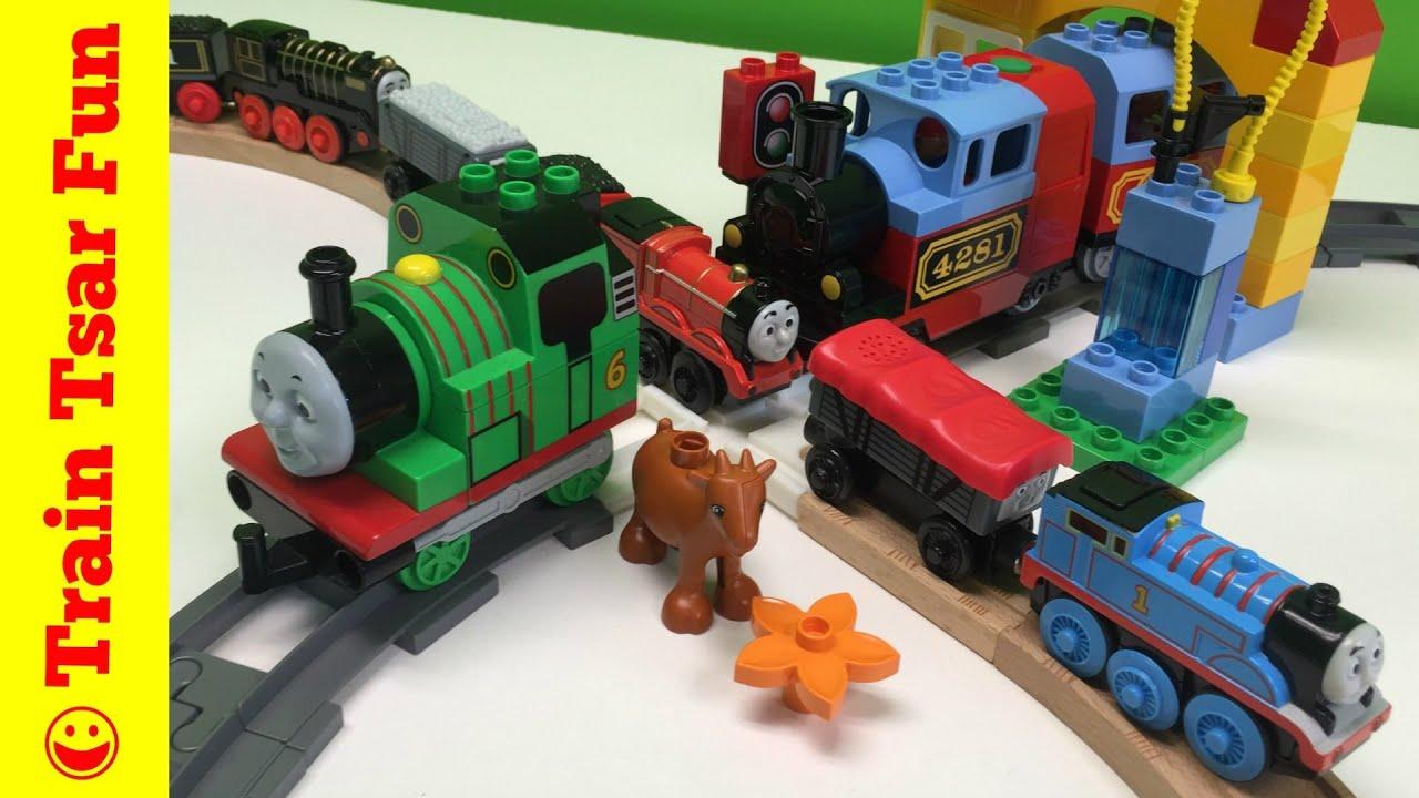 Similiar Duplo Thomas The Train Keywords Lego 5547 James Celebrates Sodor Day 10507 My First Set Vs Wooden