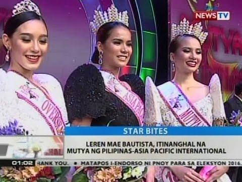 BT: Leren Mae Bautista, itinanghal na Mutya ng Pilipinas-Asia Pacific International