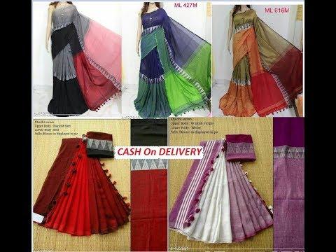 Elegant Khadi Jamdhani Sarees cash on delivery | RV Collections