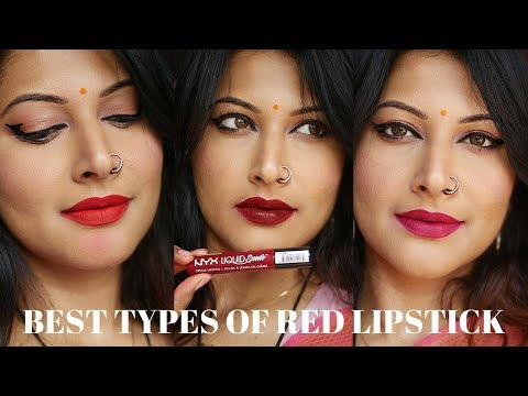 TOP 6 RED LIPSTICK UNDERTONES & SHADES FOR INDIAN/BROWN SKIN |UNIVERSALLY FLATTERING RED LIPSTICKS