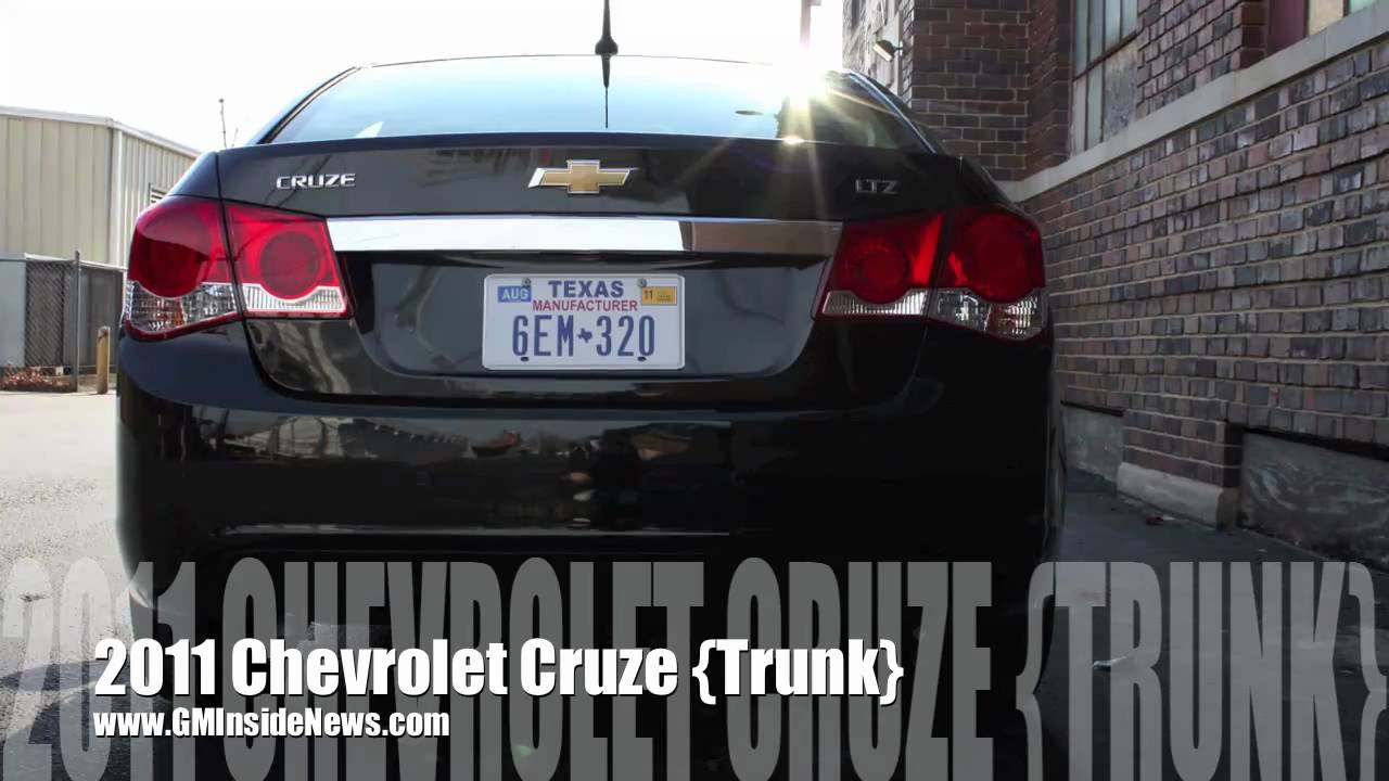 2011 Chevrolet Cruze Trunk Youtube