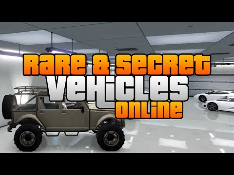 GTA 5 - Rare & Secret Vehicles Online! - Rare & Secret Cars Online!