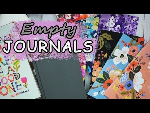 My Empty Journal & Notebook Collection!