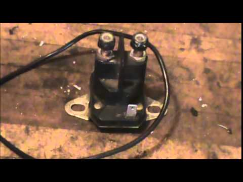 How to test a tractor solenoid