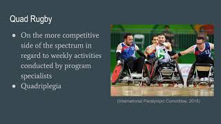 Professional Profile  Program Specialists in Adaptive Sports and Recreation Programs