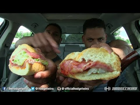Eating Quiznos Classic Itailian Sandwich @hodgetwins thumbnail