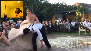 DustDaRapper React: Bride puts a spell on her magician groom during first dance