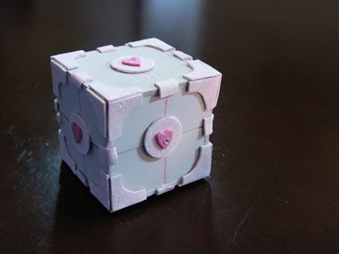 Companion Cube Box -DIY GG