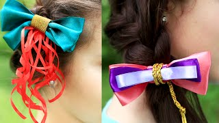 Как сделать заколку бантик для волос