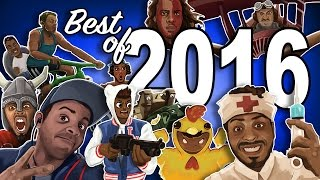 Best of 2016 Funny Moments - BF1, MWR, Golf, BasicallyIRage, Overwatch, Gang Beast!