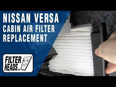 Cabin air filter replacement- Nissan Versa