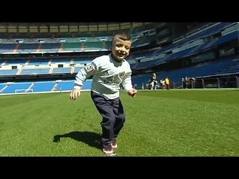 Filistinli küçük Ahmet'in Real Madrid hayali gerçek oldu