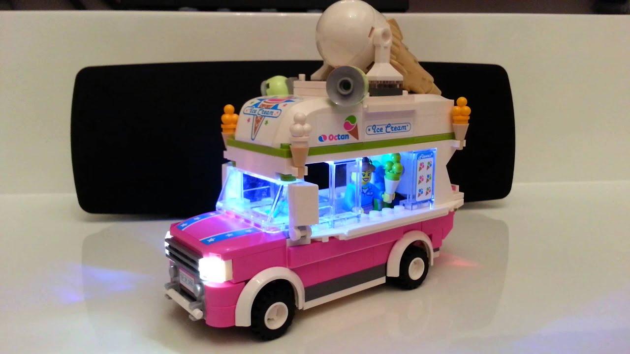 Lego 70804 雪糕車閃燈 - YouTube