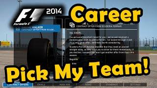 F1 2014 Career Mode: Mid-Season Team Change - Pick My Team!