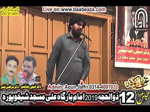 Zakir ch Zohaib ul Hassan Chakri 12 Zuilhaj 2019 Ali Masjid Sheikhupura (www.baabeaza.com)