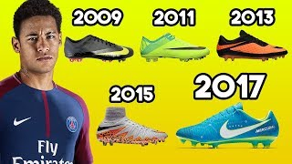 Neymar's New Boots & EVERY Cleat He Has Worn Ever!!