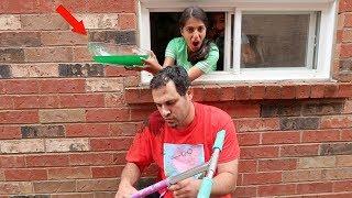 Slime Prank on My Dad! Kids Funny Video