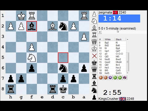 Chess World.net: Blitz #1934 vs  zeigmata (2248) - French: Winawer (Nimzovich) (C15)