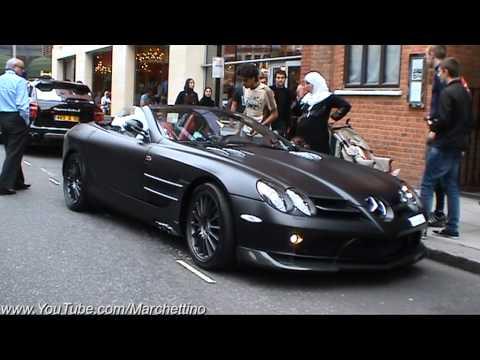 Mercedes Benz Slr Mclaren Black Convertible Matte Black Mercedes S...