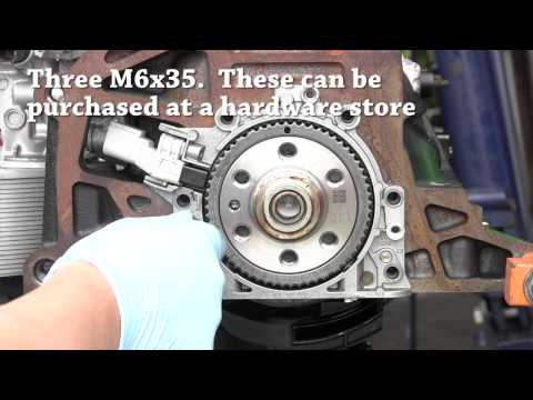 DIY rear main seal (RMS) replacement for VW and Audi 4 cyl engine. T10134 required for mk5. mk6+