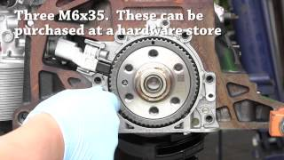DIY rear main seal (RMS) replacement for VW and Audi 4 cyl engine, T10134 required for mk5, mk6+