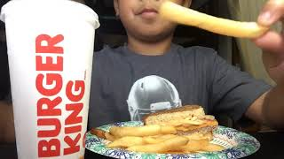 Burger king  Mukbang Fries And New Burger Menu