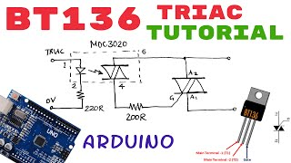 BT136 Triac Tutorial | How to use? | Pinout