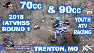 Youth 70cc & 90cc ATV Racing - Coon Creek 2018 IATVHSS Rd 1