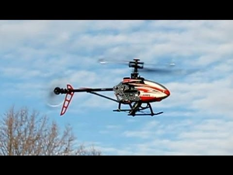 RC Helicopter MJX F45 Crash w/ On Board camera Drones