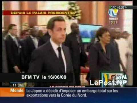 Sarkozy hué aux obsèques de Bongo Gabon une vidéo BFM (& Le Post.fr)