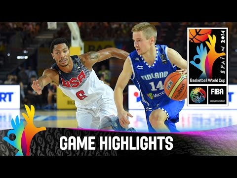 USA v Finland - Game Highlights - Group C - 2014 FIBA Basketball World Cup