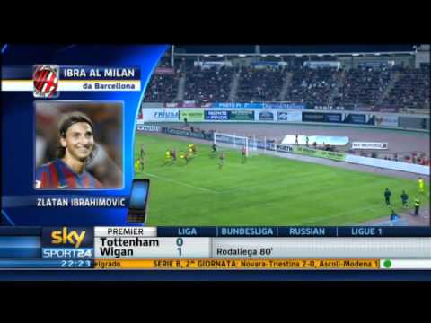 Zlatan Ibrahimovic al Milan - Sky Sport 24 - 28-08-2010 - Pt. 4