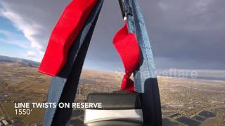 Wingsuit Double Malfunction Parachute Reserve Ride!