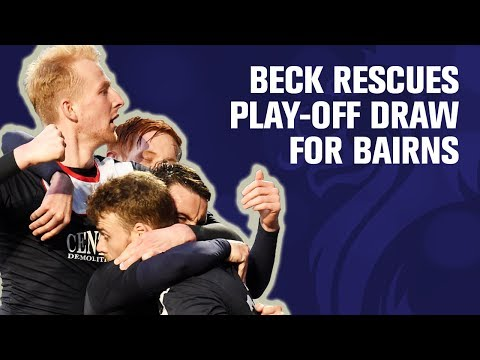 Beck rescues draw for Bairns in play-off