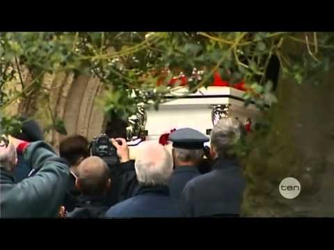 Bee Gees Singer Robin Gibb's Funeral In His Home Town Outside London