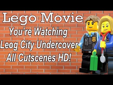 Lego City Undercover 'All Cutscenes Complete Movie' Animated Cinematic Scenes (WII U)