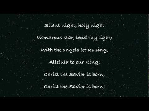 Silent Night, Holy Night - Lyrics with Piano