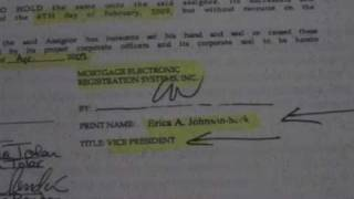 FORECLOSURE FRAUD pt 1 of 5 HOW THEY DO IT...ERICA JOHNSON-SECK.. THANKS MERS, DAVID J. STERN!!
