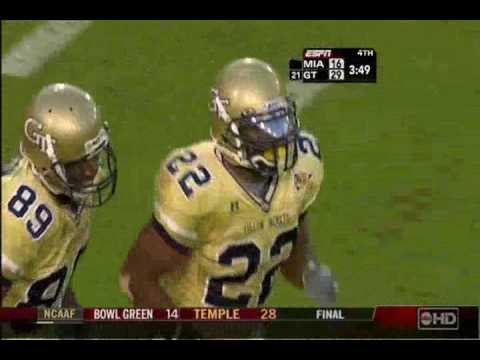 Tashard Choice 25 Yard Touchdown against Miami 2006 Video