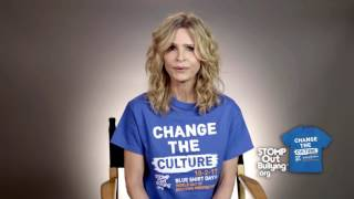 Kyra Sedgwick Supports BLUE SHIRT DAY® WORLD DAY OF BULLYING PREVENTION™ 2017