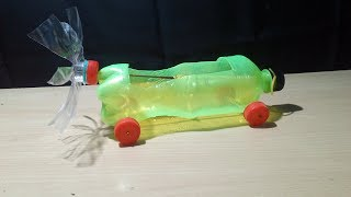 How to make a rubber band powered car ( Air car ) Do at home || Diy toy