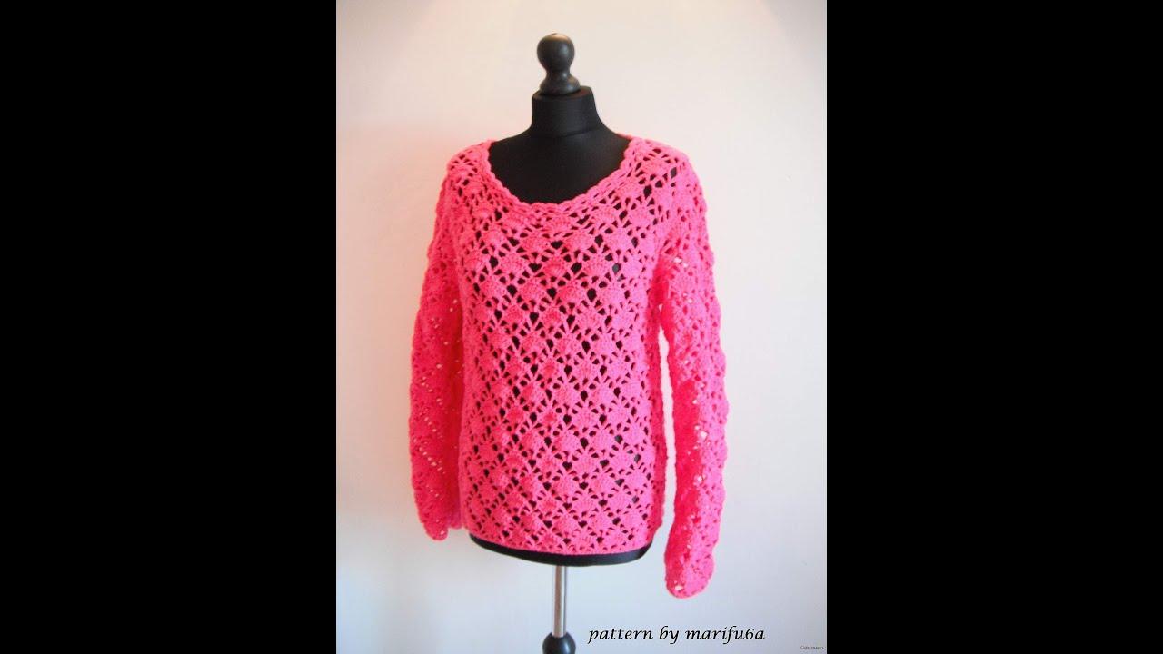 Crochet Short Sleeve Sweater Pattern 89